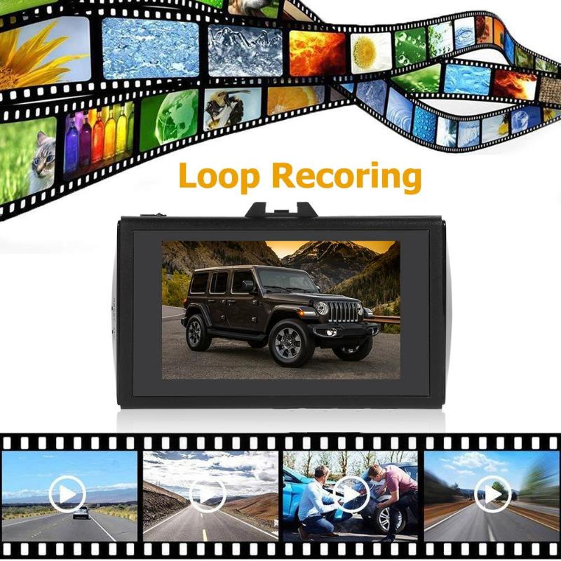 H9 1296p Dash Cam DVR Car Camera Recorder 3.0 inch Screen Dual Lens Dashcam GPS Tracking ADAS Car Video Recorder Mirror(China)