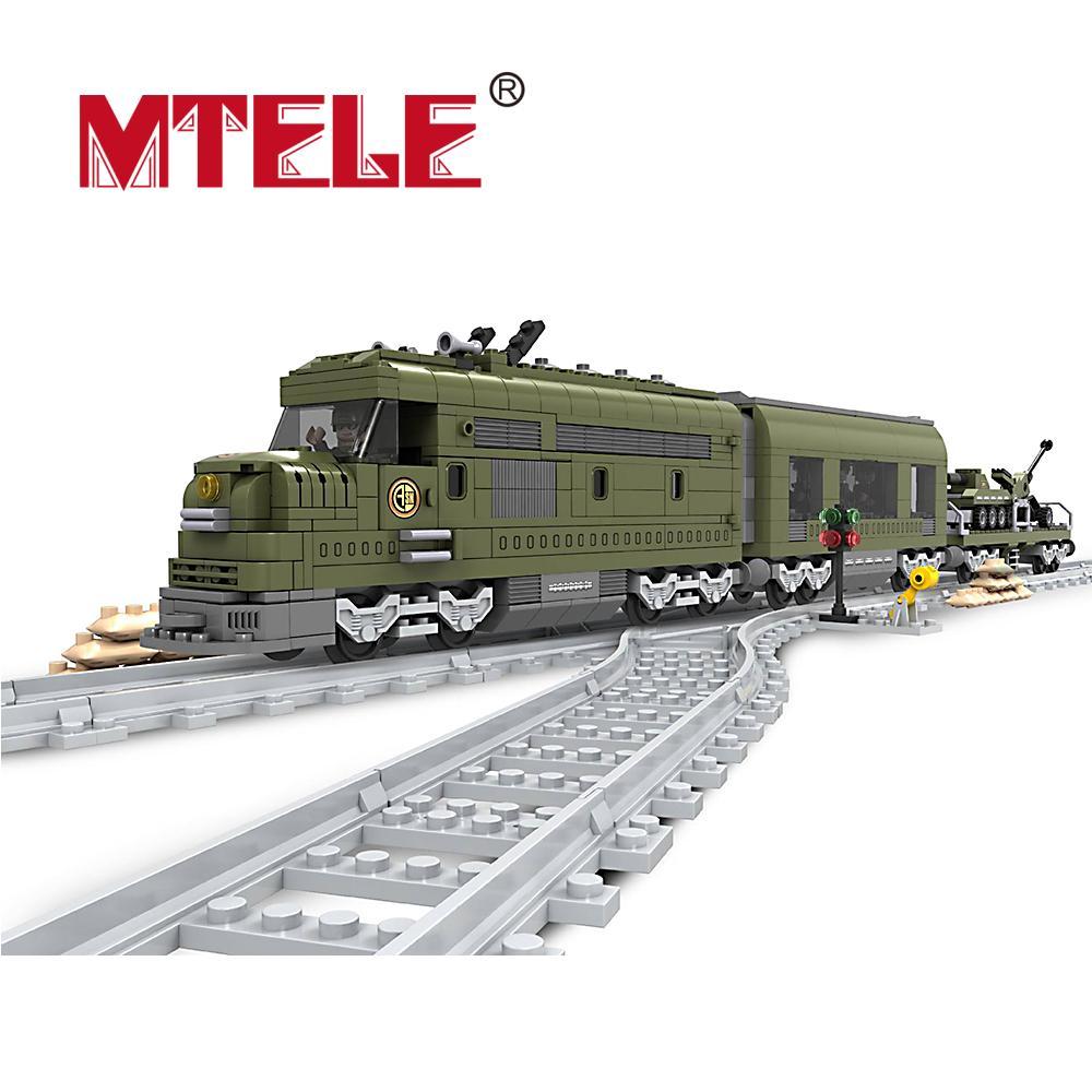 ФОТО mtele building block sets enlighten train set constructs model educational children toys compatible with legoe