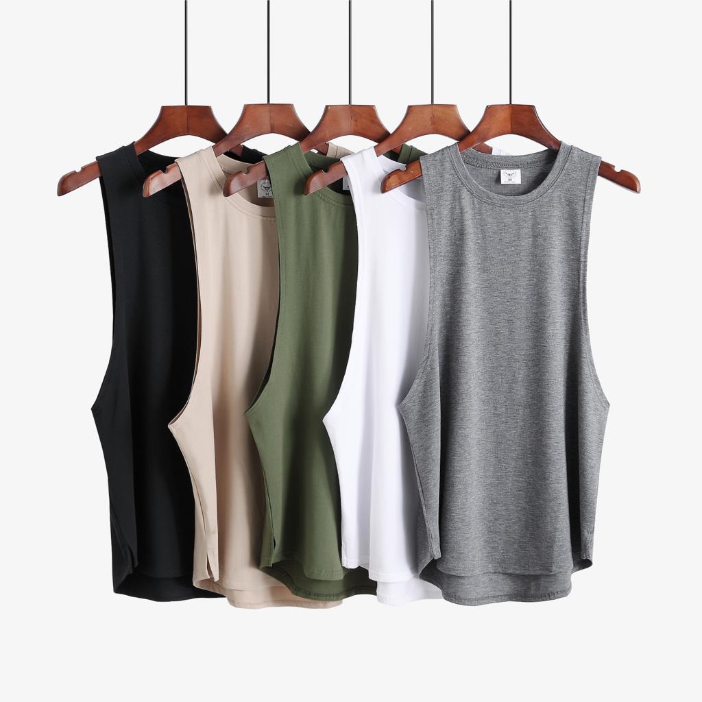 New Fitness clothing blank sleeveless mens gyms stringer tank top bodybuilding tanktop men sportwear undershirt fashion vest
