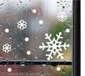 Стекло свет Рождества снег провести Рождественские украшения рождество наклейки на окна, стены пасты наклейки бумаги вырезать окно