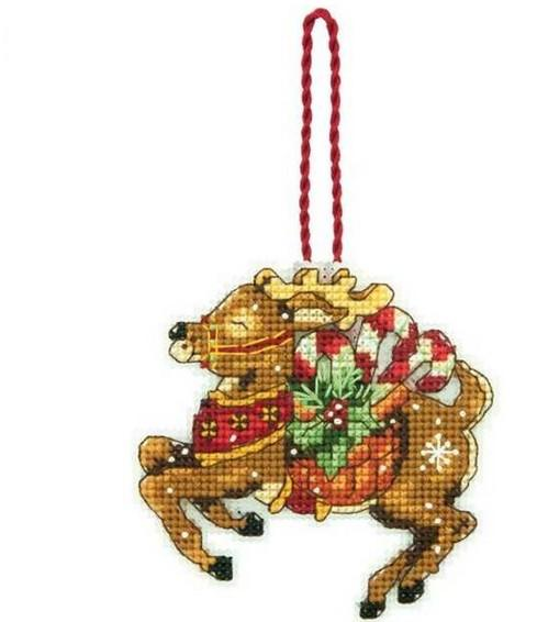 14/16/18/28 Top Quality Lovely Counted Cross Stitch Kit Christmas Deer Ornament Christmas Tree Ornaments Gift Dim 08916