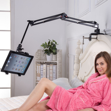 Universal Extend Retract Stands Table Bracket Bed Tablet Mount Metal Holder For Mobile ipad 1 2 3 4 air mini 7 8 9 10 inch