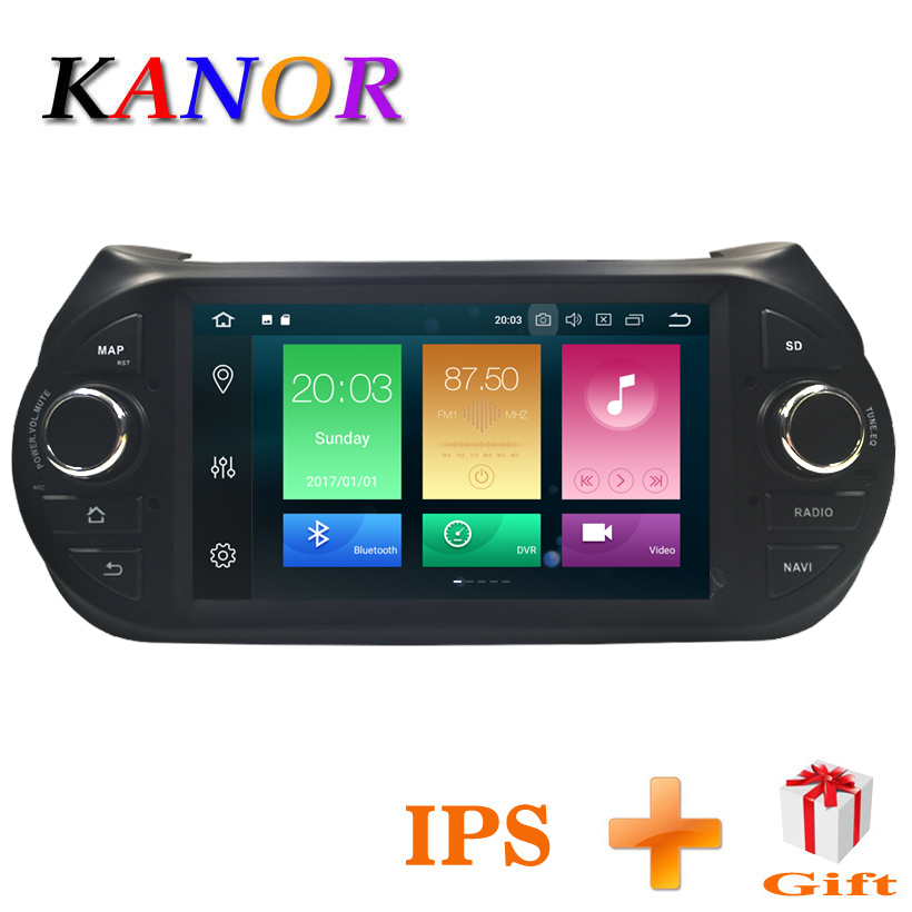 KANOR 4G RAM 8 Core Android 8.0 Car GPS Navigation Player for Fiat Fiorino Qubo 2008-2015 with Canbus 2din Car Radio GPS Player 408239821001 brand new throttle body 9640796280 408 239 821 001 egast02 for fiat fiorino qubo