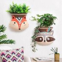 1pc Wall Hanging Vase American Resin Animal Design Flower Vase Home Decor Flower Planter Pot Tabletop Vase