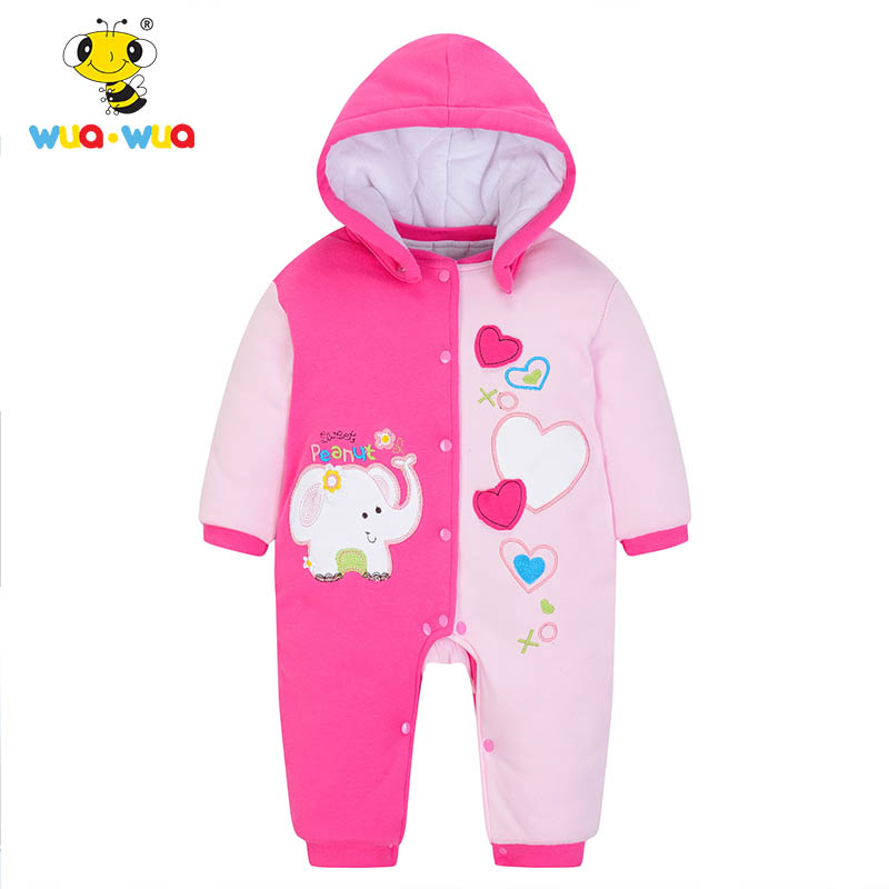 61ccd345bbb8 Wua Wua Baby Girl Winter Romper Clothing For Babies Cute Animals ...