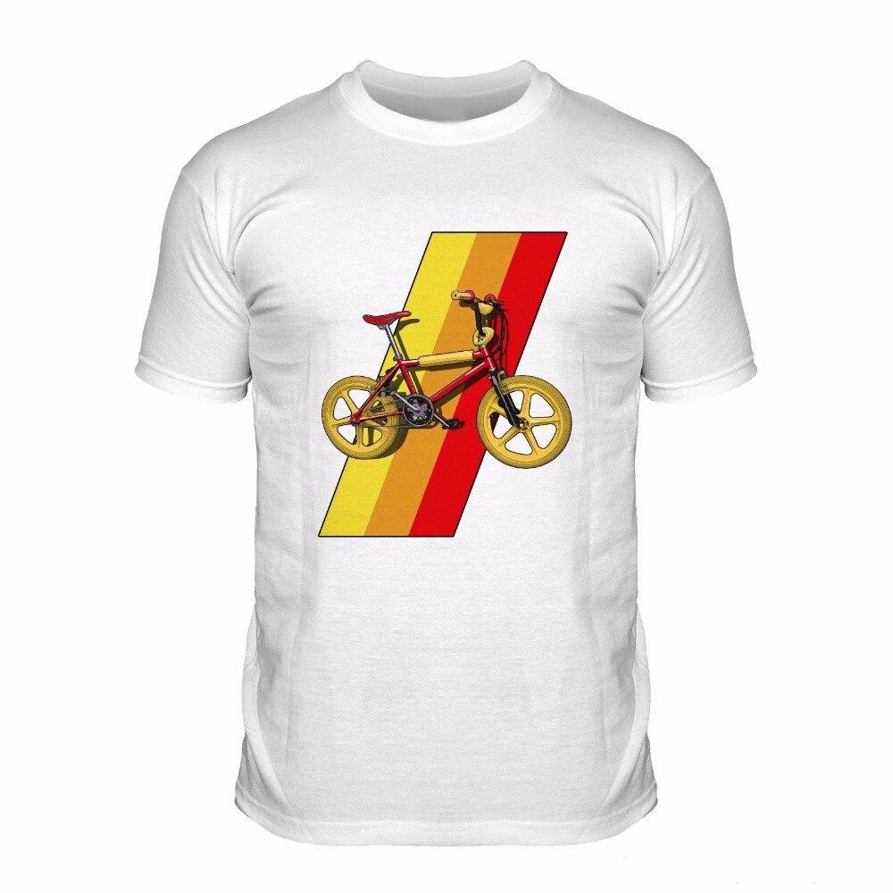2018 Hot Sale Men Short Sleeve T Shirt Men Bmx Red Grifte 80S Classic Dirt Biker Sportser Bicycle Cheap T Shirt Design