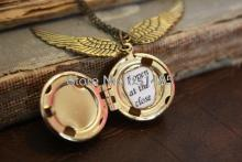 12pcs/lot HP Snitch Locket  Ball Locket Necklace Locket  i open at close Steampunk Locket