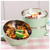 Stainless Steel Japanese Thermo Bento Portable Food Container Lunchbox For Kids School Thermal Lunch Storage Box