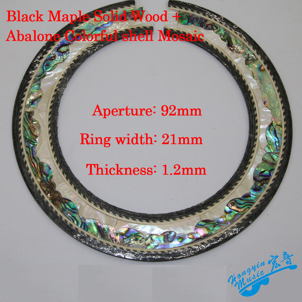 Real Abalone Colorful Shell Mosaic Guitar Circle Sound Hole For Classical Guitars Decal Accessories Promotion classical mosaic english stories part 3 цифровая версия