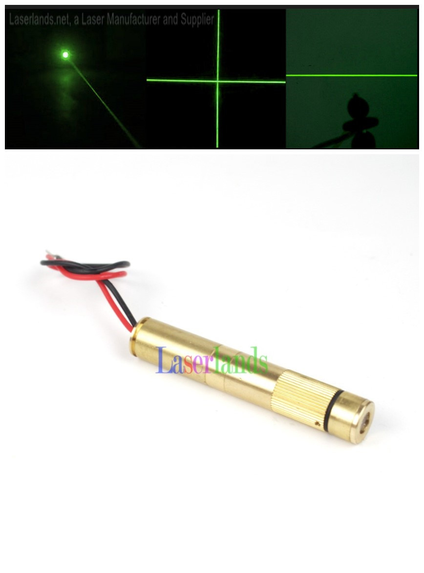 12*70mm 10mW 30mW 50mW 100mW 150-200mW 532nm Green Dot Line Cross Focusable Laser Diode Module