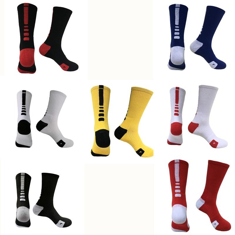 Cotton Breathable Men Basketball Socks Knee-High Sport Football Running Cycling Socks