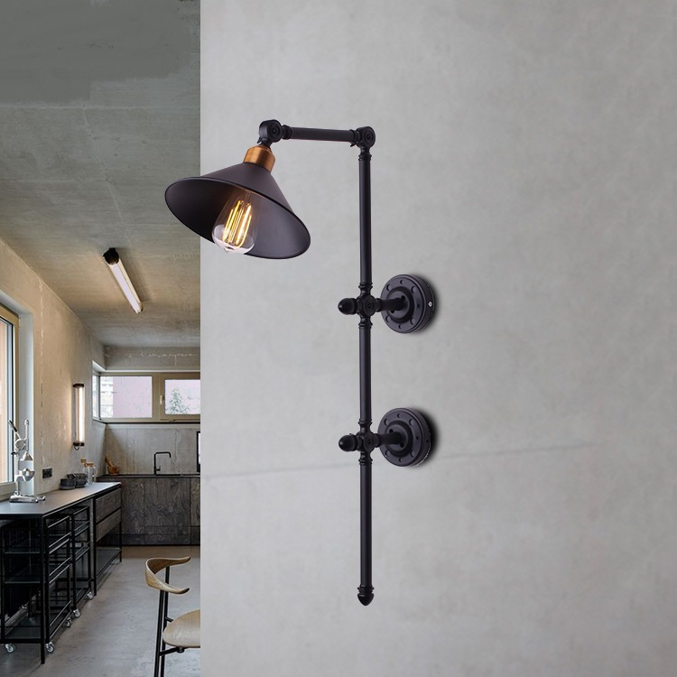 Black industrial wind wall Loft wall light features restaurant bar cafe clothing