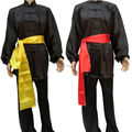 New Black  tai chi uniforms 8 Colors for KIDS AND ADULTS kung fu martial arts suit clothing Free wushu sash free shipping