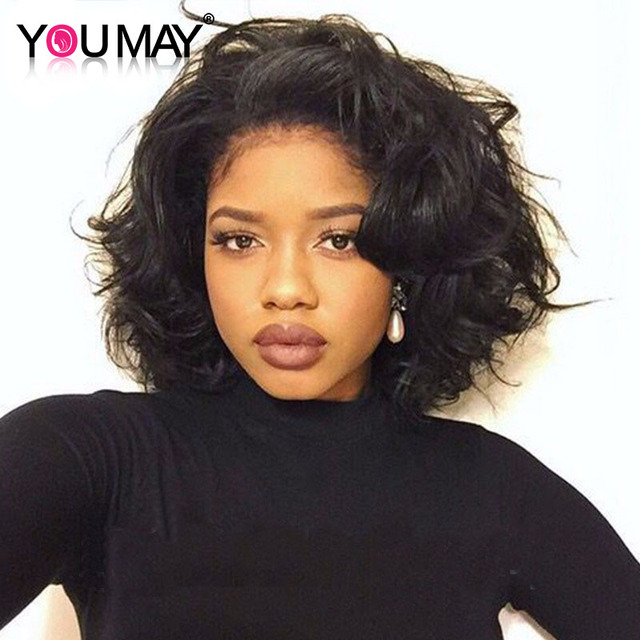 7A 250% High Density Bob Wig Lace Front Human Hair Wigs For Black Women With Baby Hair Lace Frontal Short Bob Human Hair Wigs