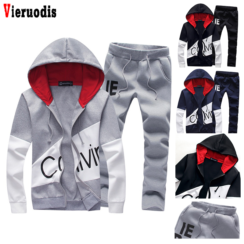 Mens 5XL Large Size Sporting Suits Tracksuit Male Sweat Track Suit Jacket Hoodie With Pants Men Set Letter Sportswear Sweatsuit
