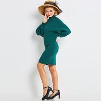 Sisjuly Women S Casual Sweater 2017 Autumn Winter Solid Hunter Lantern Sleeve Turtleneck Long Sweater Pullovers