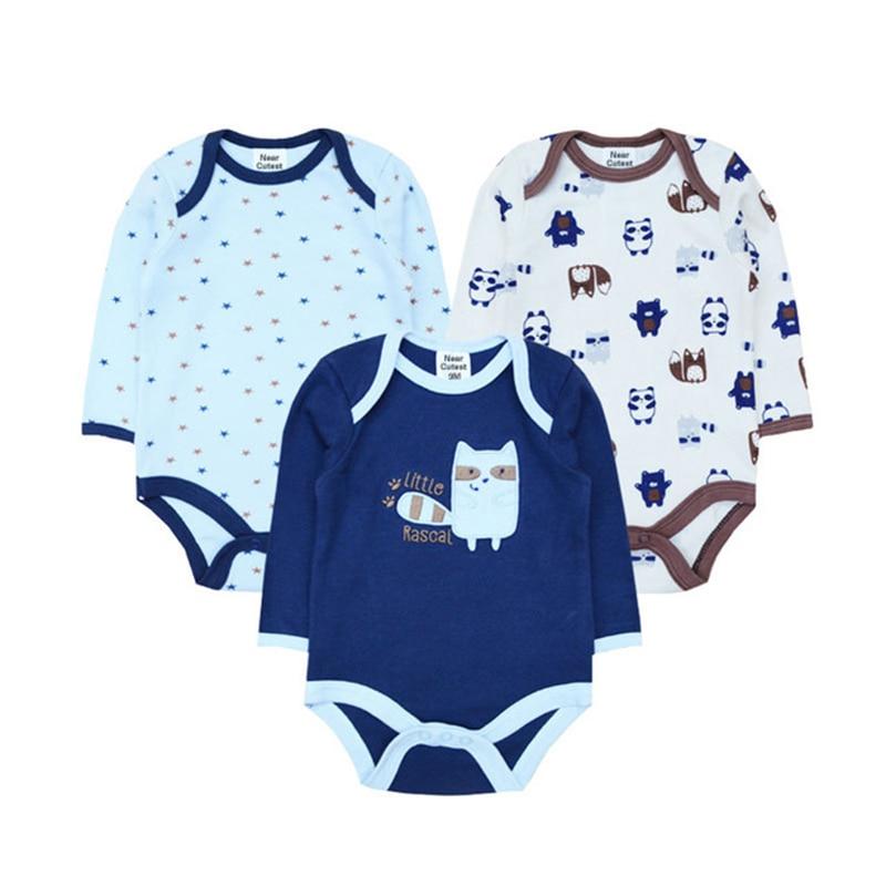 Մոտավոր Cutest 3 հատ / շատ Baby Romper Երկար թև - Հագուստ նորածինների համար - Լուսանկար 2
