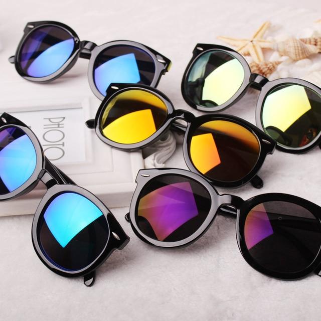 381ffe7ed6 FREE SHIPPING New Brand KW Rivet Cat Eye Frame 5 Colors Reflective Lens  Round Sunglasses Women Men Unisex Vintage UV400 Glasses