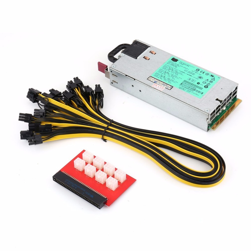 High Quality 1200W Switching Power Supply for GPU Open Rig Mining BTC ETH Ethereum 1200 W DPS-1200FB A P/N 438202-001