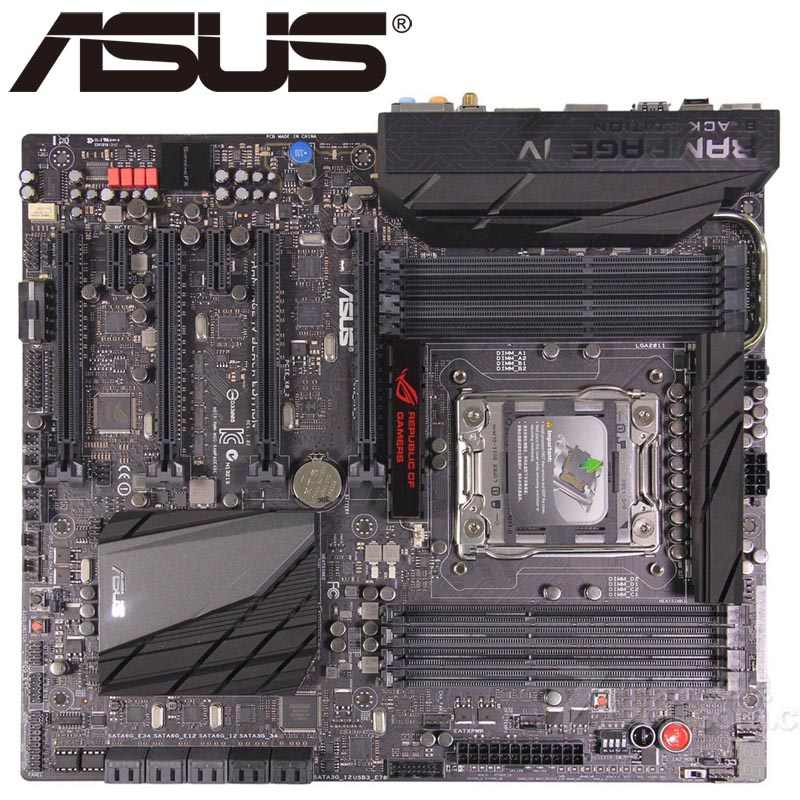 Asus Rampage IV Black Edition Desktop Motherboard X79 Socket LGA 2011 Core i7 DDR3 64G ATX UEFI BIOS Original Used Mainboard