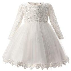 Vestido de casamento da menina do bebê branco batismo vestido de noite flor infantil tutu vestido de festa para meninas roupas 1 ano vestido de aniversário