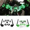 Регулируемый зажим на руль  регулятор вилки  гайка для гаек для KAWASAKI Ninja250R Ninja300R 2013 14 15 16 17 2018