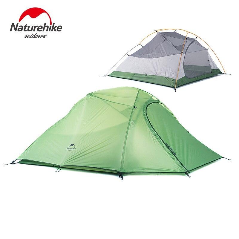 Nature randonnée 3 personnes ultra-léger tente Camping Double couche tente en plein air randonnée pique-nique étanche tente NH15T003-T - 3
