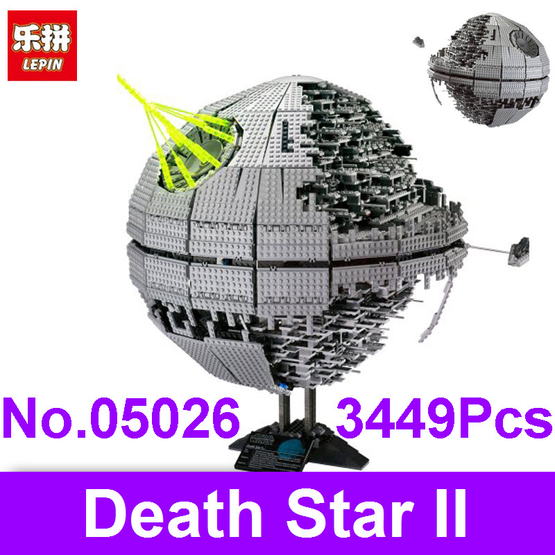 LEPIN 05026 3449Pcs Death Star The Second Generation Wars Building Blocks Bricks Children Educational Toys Compatible With 10143 мужские часы casio aw 49h 7b