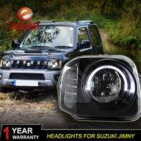 Car Styling 1Pair Refit LED HID Xenon Headlight Headlamp For Suzuki Jimny 2007 2008 2009 2010