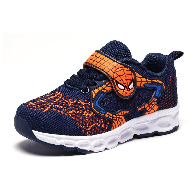 03180a3d1 SpiderMan chico Zapatos Zapatillas de deporte Niño niña chico tenis  infantil los niños sapato infantil cocuk calzado