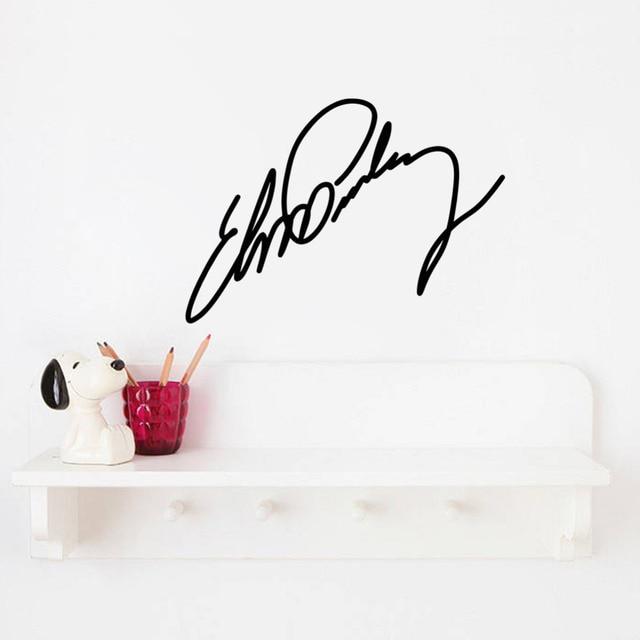 Elvis Presley Sign Signature Home Decor Vinyl Wall Sticker Wallpaper Window Decals 17
