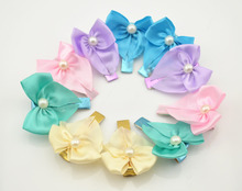 2pcs  New Beauty Flower Hairpins Children Hair Accessories Girls Pearl Hair Barrettes Children Accessories Baby Hair Clip