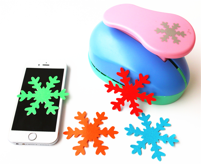 8cm SnowFlake 3'' Large DIY Craft Punch For EVA Puncher Card Making Creative Embossing Device Stationery Kids Scrapbooking S2888