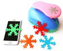 8cm płatek śniegu 3 duże DIY dziurkacz ręczny do EVA dziurkacz karty podejmowania kreatywny tłoczenie urządzenia biurowe dla dzieci Scrapbooking S2888