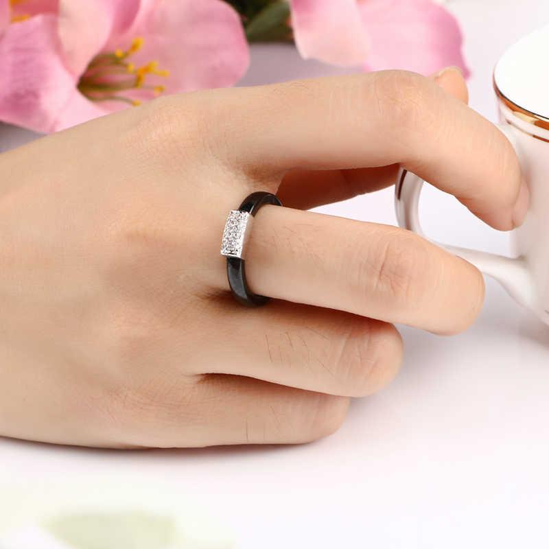 高級シニ CZ U 形のスタッドのイヤリングリングセットファッションラウンドラインストーンセラミックリングイヤリングセット結婚式の宝石類のギフト