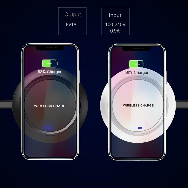 CinkeyPro simsiz şarj cihazı iPhone 8 üçün 10 X Samsung S7 S8 5V - Cib telefonu aksesuarları və hissələri - Fotoqrafiya 2