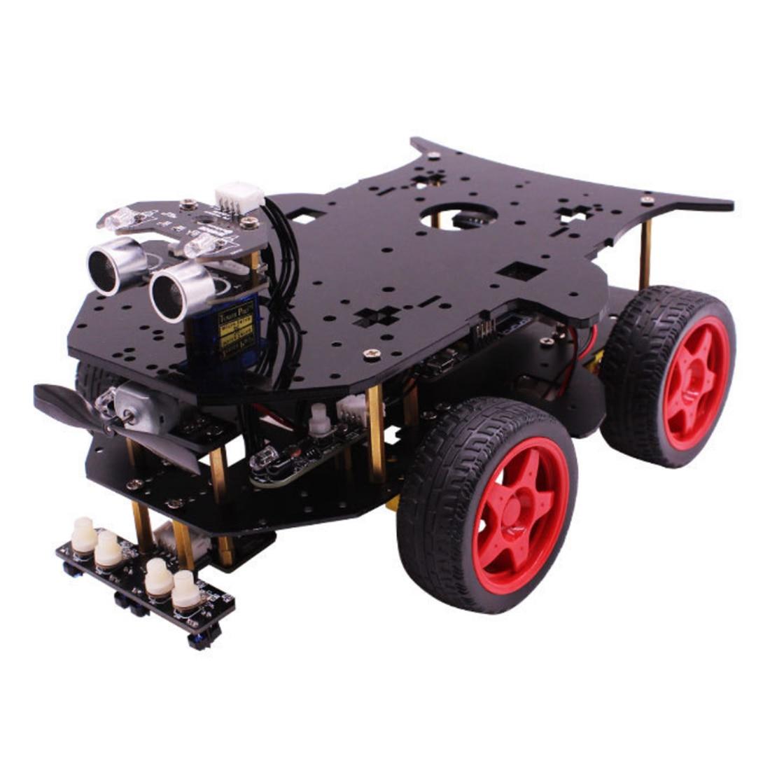 Roboter Auto 4WD Programmierung Stamm Bildung Robot Kit Spielzeug mit Tutorial & Open Source Code für Arduino (Einschließlich UNO r3 Mainboard) - 2