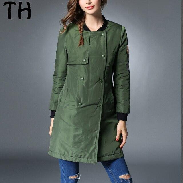 2016 Slim Fit Warm Winter Parka Women Wadding Mid Long Down Jacket Casual Overcoat #161667