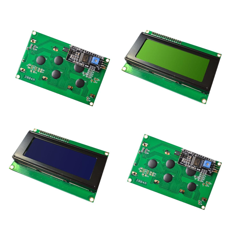 10pcs lot LCD2004 I2C 2004 20x4 2004A blue screen HD44780 for arduino Character LCD w IIC