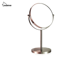 European-style Bath Mirror Makeup Magnifier Mirrors 1:1 And 1:3 360 Rotate Double Faced Cosmetic Mirror Of Desktop Mirrors  Ym8 недорого