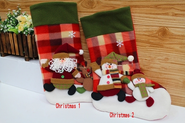 Free Shipping Personalized Christmas Stockings Gifts For Kids Cute Merry Decoration Supplies 36223