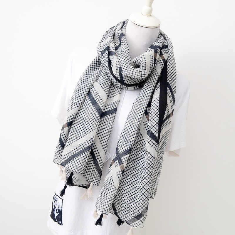 綿と麻スカーフ日本文学芸術小さな正方形の装飾シルクスカーフスーパーロング気質日焼けショール女性