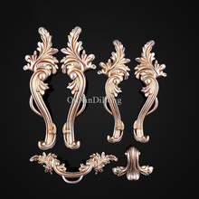 Hot 5Pairs Furniture Handles European Style Zinc Alloy Drawer Cupboard Kitchen Cabinet Door Handles & Knobs Furniture Hardware