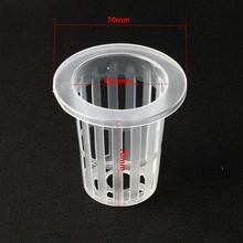 12pcs Aquaponic Cup 48.5mm Hydroponics Cup Soilless Net Pot Aeroponics Basket  Vegetable Grow Cup Nursery Mesh Pot