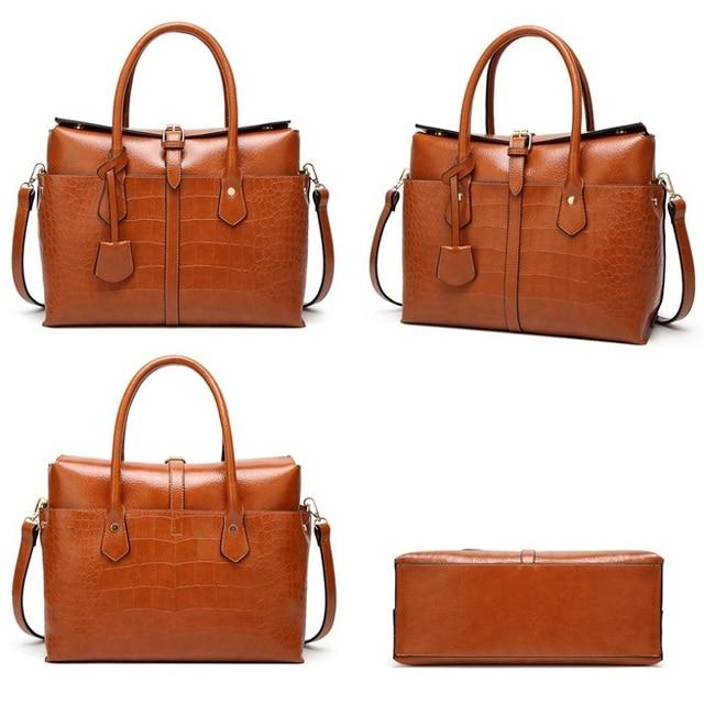 Designer Women Shoulder Bag Large Tote Bag Women's Quality Handbags for Female Crocodile Leather Messenger Bag 2