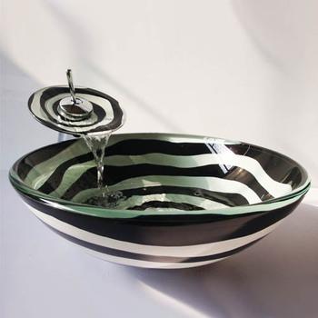 Chiński antyczne szkło umywalki chiny umywalka szklana ekspozycja umywalka umywalka umywalka umywalki łazienkowe chiny tanie i dobre opinie JINGYILE ROUND Blat umywalki Szampon umywalki Glazury natrysku Jeden otwór L420*W420*H145mm