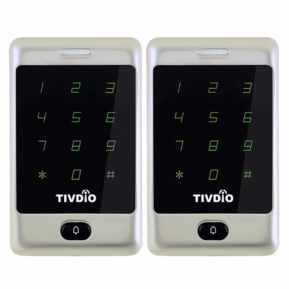 2pcs TIVDIO T AC01 RFID Access Control Touch Keypad Door Access Control System 125KHZ KDL Metal