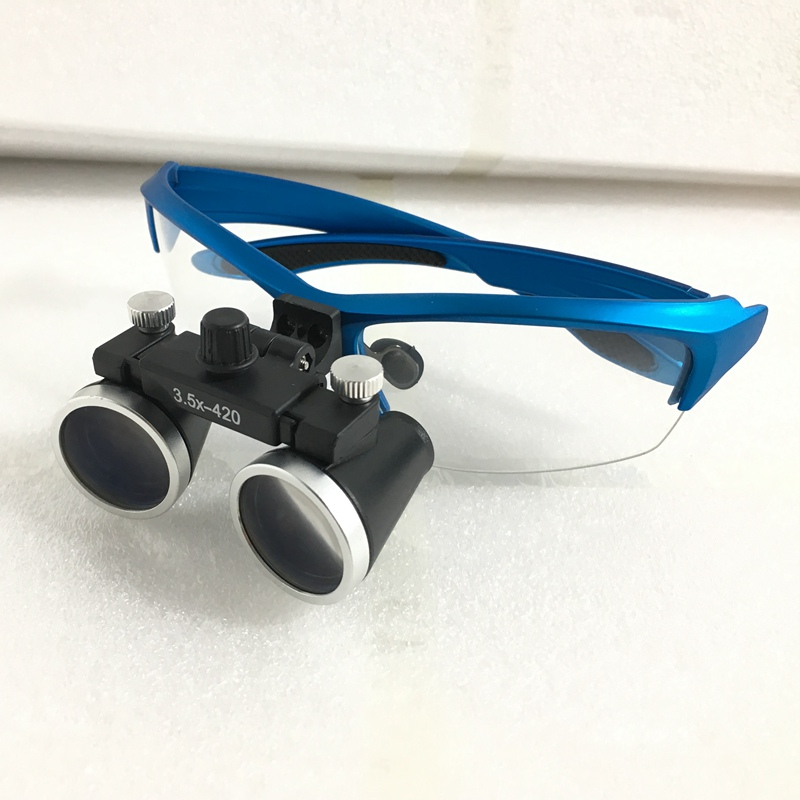 Фото Dental Loupes 3.5X 420mm Surgical Magnifier Binocular Magnifier with LED Head Light Lamp Surgical Dentists Magnifier