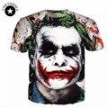 2017 dos homens da Novidade 3D Camiseta Manga Curta impressão bloodcurdling palhaço camisa dos homens t batman the joker dc comics superhero t camisas