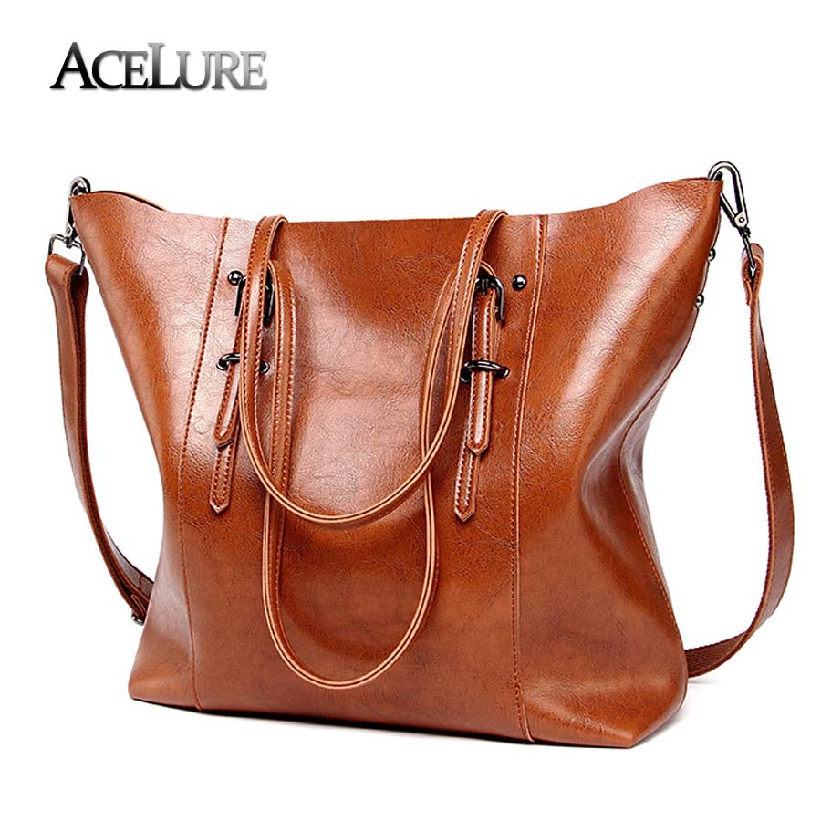 ACELURE Luxury Brand Women Shoulder Bags Big Bucket Bag Soft Leather Female Casual Tote Wild Messenger Bag Casual Ladies Handbag women bag handbag tote over shoulder crossbody messenger leather female red bucket lock big casual ladies luxury designer bags